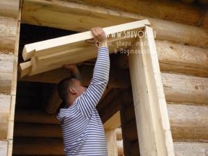 Как сделать окосячку в бревенчатом доме своими руками